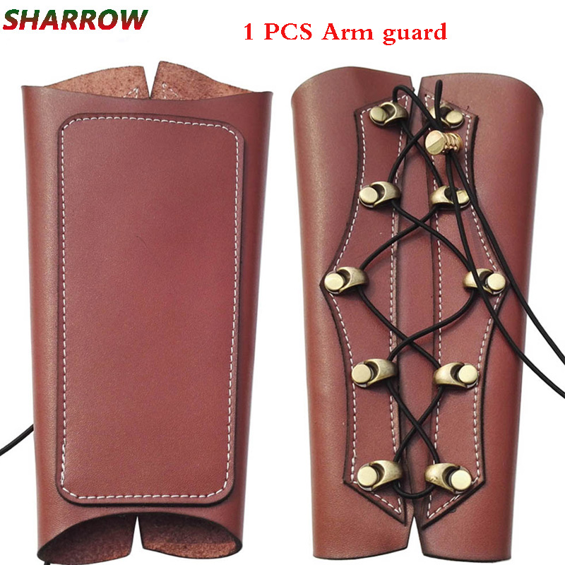 1pc Archery Arm Guards Safety Protective Arm Traditional Cow Leather Arm Guard For Outdoor Sports Shooting Hunting Accessories