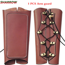 1pc Archery Arm Guards Safety Protective Traditional Cow Leather Guard For Outdoor Sports Shooting Hunting Accessories