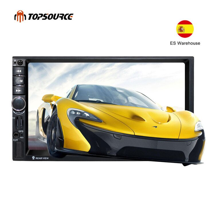 TOPSOURCE <font><b>7020G</b></font> 2 Din Auto Car Multimedia Player+GPS Navigation 7'' HD Touch Screen MP3 MP5 Audio Stereo Radio Bluetooth FM USB image