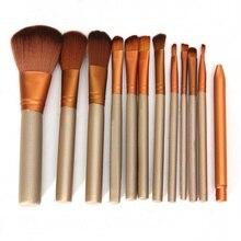 Professional 12Pcs Makeup Brushes Set Powder Brushes Lip Eyeliner Foundation Eyeshadow  Make Up Brush Cosmetic Beauty  tool недорого