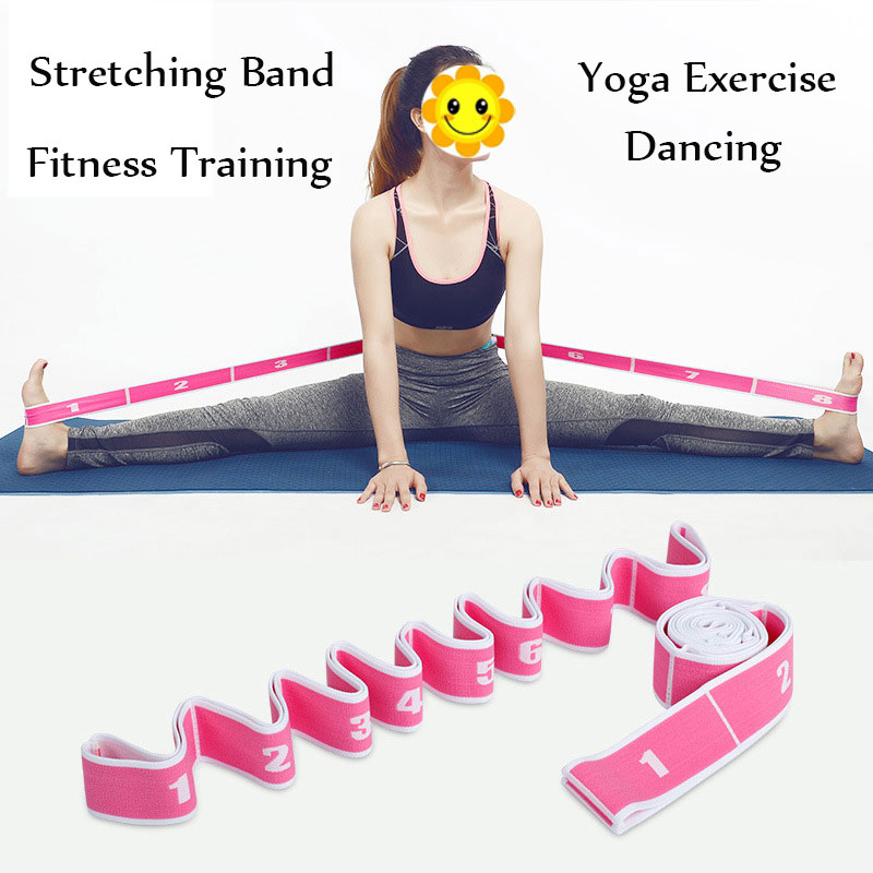 High Elastic 8-Loop Training Resistance Band Fitness Belt Tension Yoga Stretching Resistance Exercise Band For Dancing Sports