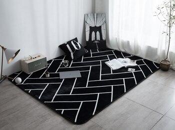Alfombra rectangular para sala de estar, felpudo de baño antideslizante, para habitación...
