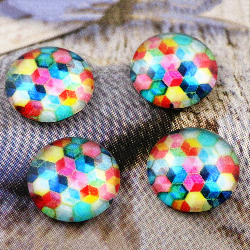 New Fashion  20pcs 12mm Handmade Photo Glass Cabochons   E5-64