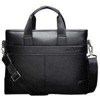 حقيبة أعمال من جلد البولي يوريثان للرجال ، حقيبة عمل ، كاجوال ، لون أسود ، بني ، سعة كبيرة ، 2021