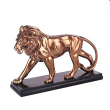 African ferocious lion sculpture statue resin domineering animal lion home decoration accessories Attic  craft gift statue недорого