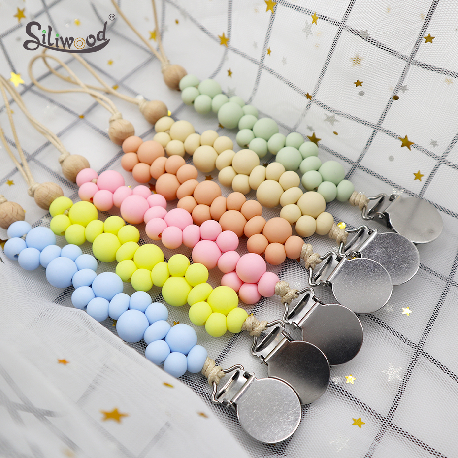 New Pacifier Clips Baby Accessories Lovely Pacifier Chain Baby Soother Pacifier Nipple Holder  Baby Teething Toys Dummy Clip