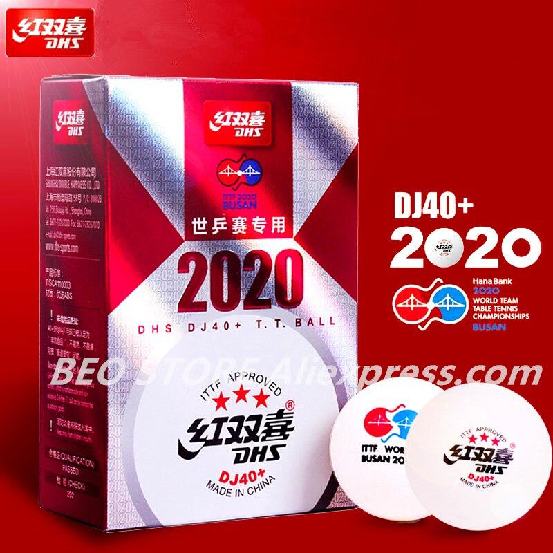 DHS DJ40+ 3-Star Table Tennis Ball For TOKYO Olympic Games ITTF BUSAN World Tour Plastic ABS DHS 3 Star Ping Pong Balls