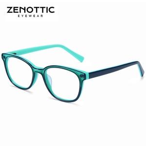 Image 2 - Zenottic Acetaat Kinderen Brilmonturen Meisjes Jongens Bijziendheid Optische Bril Anti Blue Ray Lens Bijziendheid Recept Brillen