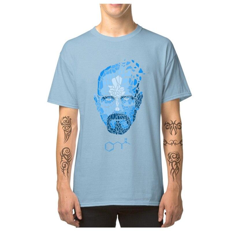 Heisenberg_Blue_-_Breaking_Bad_3256 Short Sleeve T Shirt Round Collar Pure Cotton Men T-shirts Cool Tops T Shirt Family Heisenberg_Blue_-_Breaking_Bad_3256 light