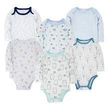 Одежда для малышей; одежда с принтом; 100% хлопок 6 шт/компл