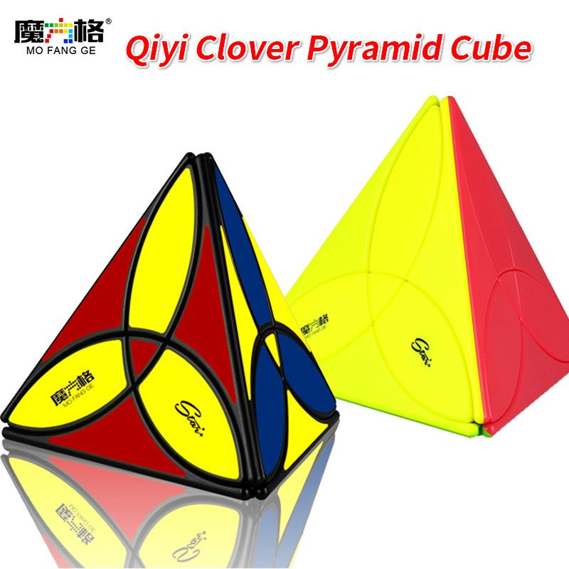 QiYi Mofangge Clover Pyramid Speed Magic-Cube Professional Irregularly Puzzle Cubes Educational Gift Cubo Magico