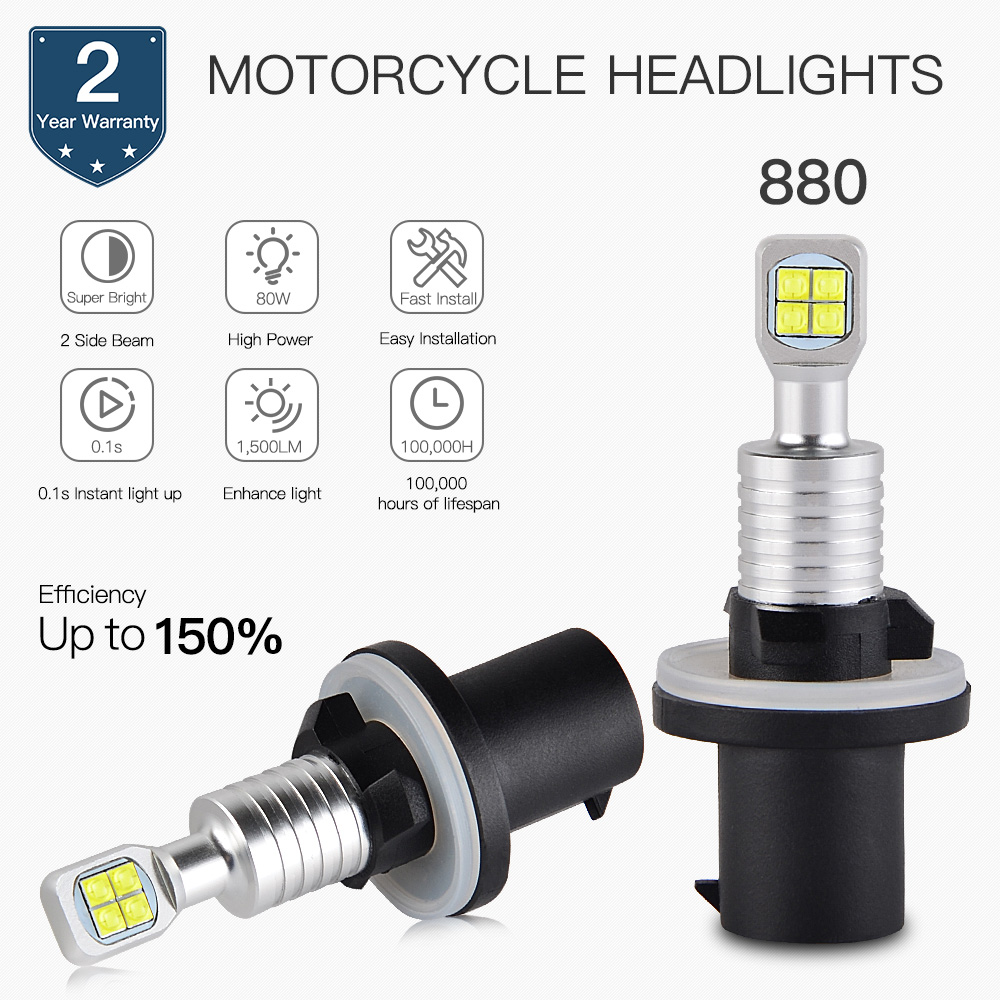 Bevinsee Motorcycle Headlight led Moto Bulb For ARCTIC CAT 400 2x4 2002 2004 For ARCTIC CAT 400 4X4 2002 2004 Kit