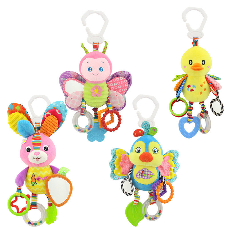 Newborn Baby Rattles Toys Ringing Teether Sets Plush Gift For Infant