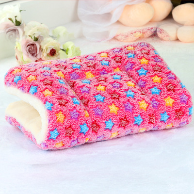 Winter Warm Pet Dog Soft Cushion Large Print Flannel Cotton Mattress Cat Pet Mat Bed Pad Rug Cartoon Printed Cat And Dog Pad 14