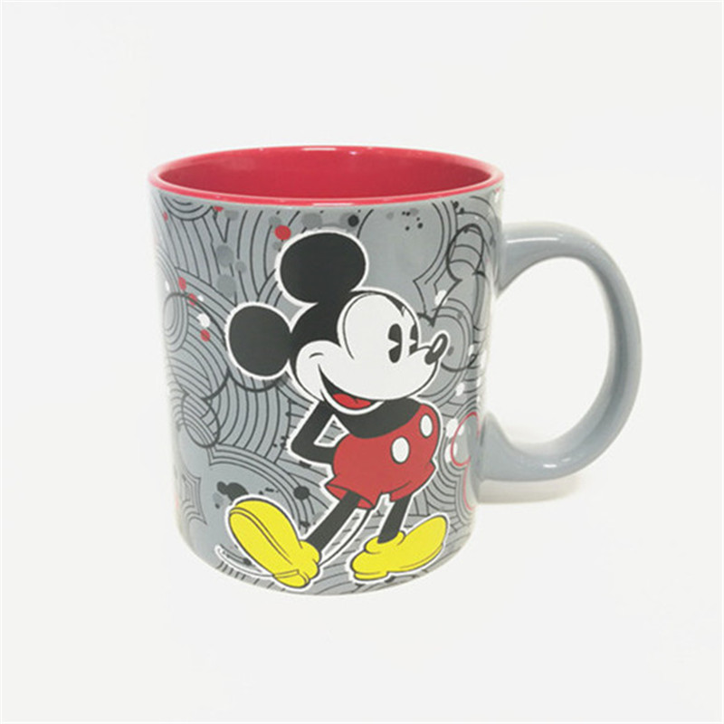 400ml 600ml Disney Mickey Cartoon Water Cup With Little Flaw Milk Coffee Ceramic Mug Home Office Collection Cups  Girl Boy Gifts