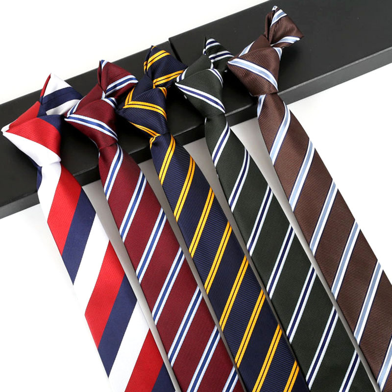 Men Ties 6cm Stripe Jacquard Narrow Necktie Accessories Daily Wear Cravat Wedding Formal Business Party Skinny Neck Tie