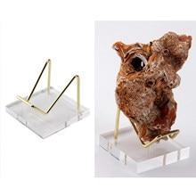 Clear Acrylic Easel Display Stand Mineral Display Holder Shelf for Mineral Fossil Rocks Quartz Amethyst Platter Medals Artwork
