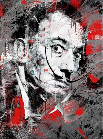 Portrait Art Salvador Dali Oil Painting Canvas Painting Posters and Print Wall Art Picture for Living Room Home Decor (No Frame) 7