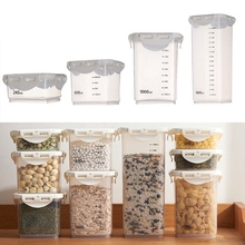 Storage Box Bean Grain Spice Food Grain Plastic Storage Box For Kitchen Fridge Container Sealed Storage Case with Scale kitchen stackable sealpot plastic containers box with buckle storage box for food cereal container fridge organizer storage