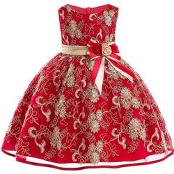 Flor meninas vestido princesa vestidos de festa de casamento crianças vestido de baile vestidos formais do bebê natal crianças roupas