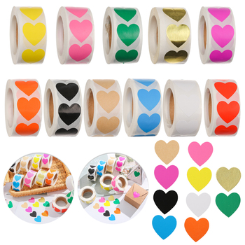 500pcs Scratch Off Stickers Cute Kids Stationery Sticker Love Heart Shape Labels Game Wedding Home Party Decoration Hot Sale - discount item  40% OFF Stationery Sticker