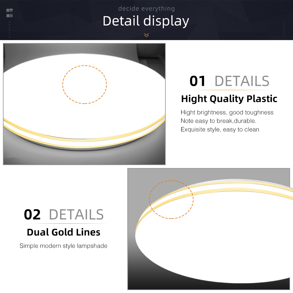 Image 5 - Ceiling Light Dimmable 72w 36w LED Panel Lamp Down Light Surface Mounted AC 220V Modern Lamp For Home led ceiling LightingCeiling Lights   -