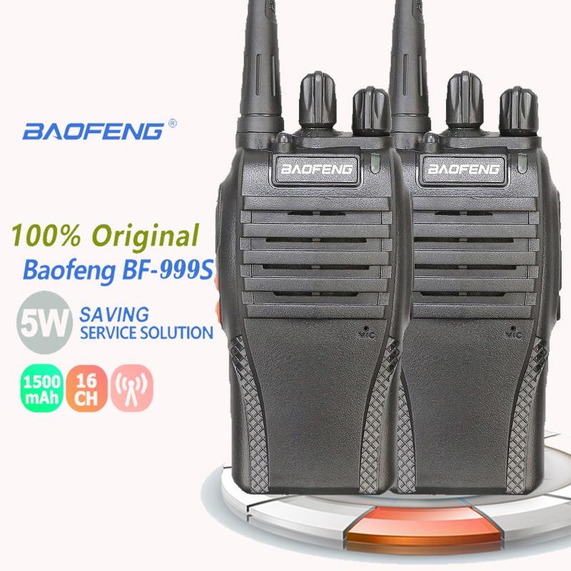 2PCS Baofeng BF-999S Walkie Talkie 5W 1500mAh UHF 400-470MHz Baofeng 888s Ricetrasmittenti Ham Radio Hf Transceiver Radio Amateu