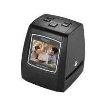2.4in TFT LCD Ad alta Risoluzione 14MP/22MP Pellicola Scanner Convertire 35 millimetri/135 millimetri pellicola In Bianco E Nero di Scorrimento film Negative in Immagine Digitale