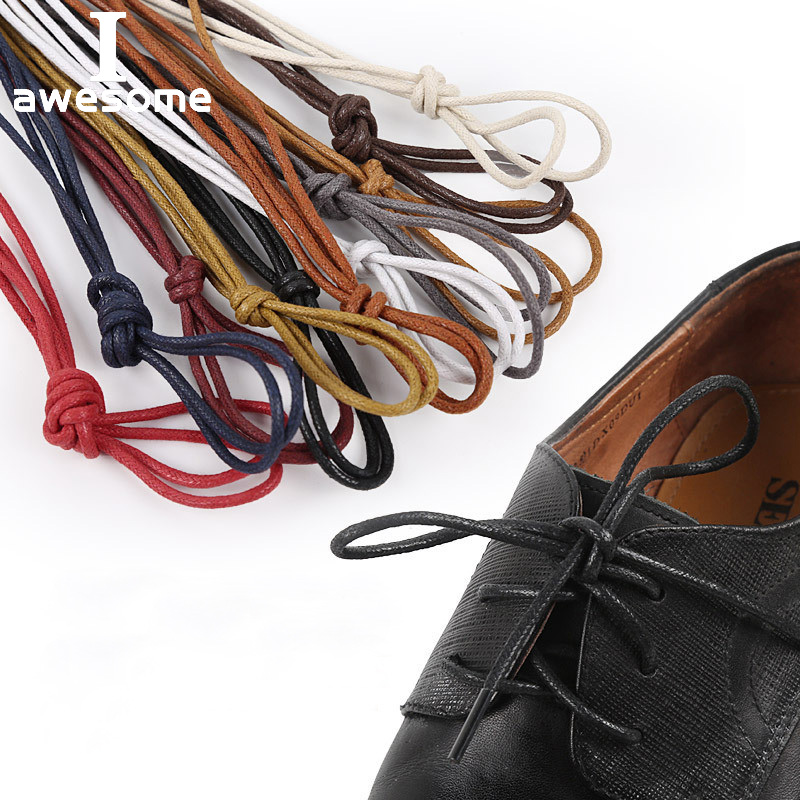 70/90/120/150/160CM Waxed Cotton Round Shoe Laces Leather Shoes Lace Waterproof ShoeLaces Men Martin Boots Shoelace Shoestring