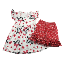 Wholesale Baby Clothes Infant Casual Clothing Sets For Baby Red Bull Print