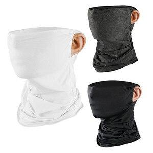 Wiatroodporny szalik rowerowy ochrona przed promieniowaniem UV odkryty wiatroszczelny wędkarski biały czarny chustka na głowę z filtrem 1 szt