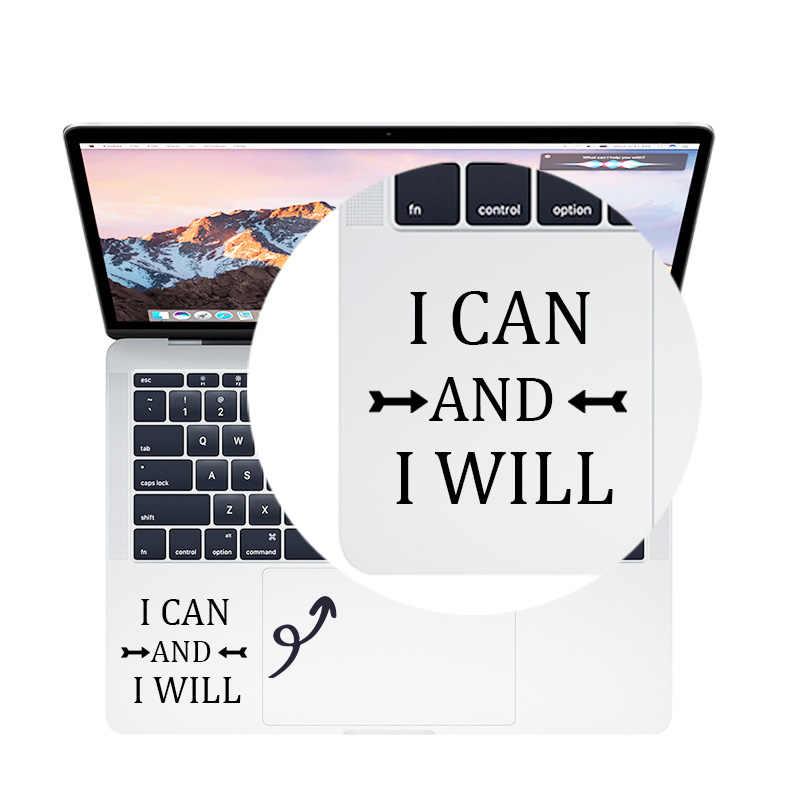 עצמי מוטיבציה ציטוט חלום Trackpad מדבקות מחשב נייד מדבקת עבור MacBook Pro אוויר רשתית 11 12 13 15 אינץ Mac משטח מגע עור מדבקה