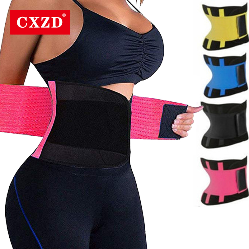 CXZD Fitness Belt Body Shaper Waist Trainer Trimmer Corset Waist Belt Cincher Wrap Workout Shapewear Slimming Plus Size S-3XL