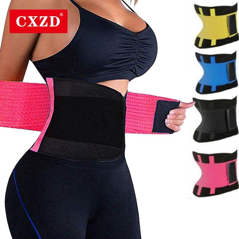 CXZD Fitness Belt Body Shaper Waist Trainer Trimmer Corset Waist Belt Cincher Wrap Workout Shapewear Slimming Plus Size S-3XL