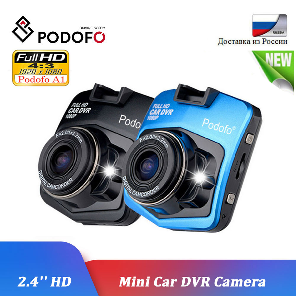 Podofo A1 Car DVR Dashcam Full HD 1080P Video Recorder Registrator Night Vision G-Sensor Car Camcorder Mini DVRs Dash Cam Camera