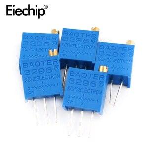 50 шт./лот 3296 Вт серия 500R 1K 2K 5K 10K 20K 50K 100K 200K 1M многооборотный потенциометр 10K переменные резисторы с набором в коробке