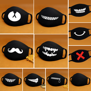 Image 1 - Cartoon Cotton Face Mask Mouth Black Anti Dust Anti Pollution Respirator Mask Fashion Cute Bear Kpop Animal Face Mouth Masks