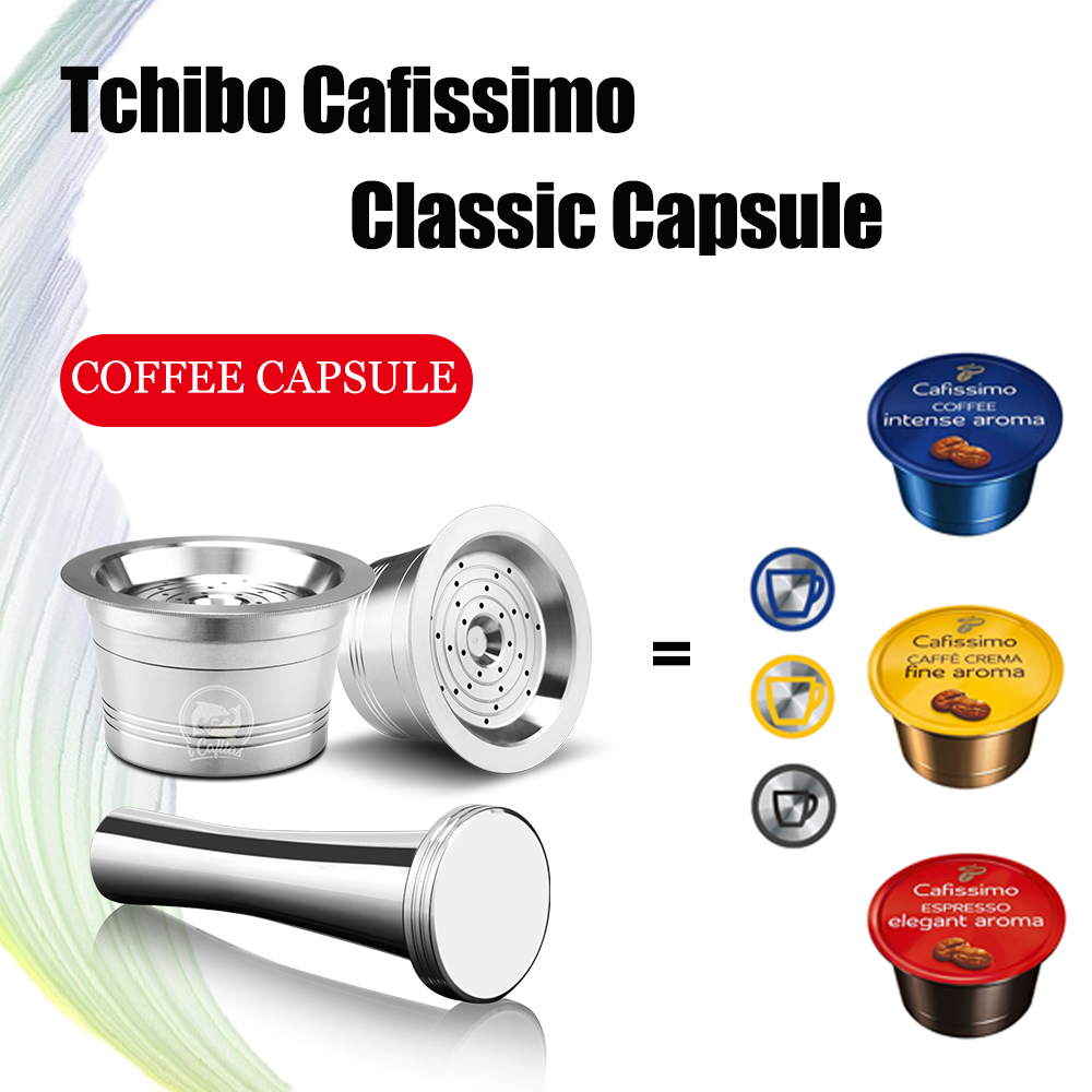 ICafilas Refillable Tchibo Cafissimo Classic Coffee Capsule Pod Reusable Coffee Filters For Caffitaly K-fee Machine