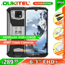 OUKITEL WP6 10000MAh 6.3 Inci FHD + IP68 Mobile Phone 6GB 128GB Octa Core 16MP Triple kamera Smartphone Rugged(China)