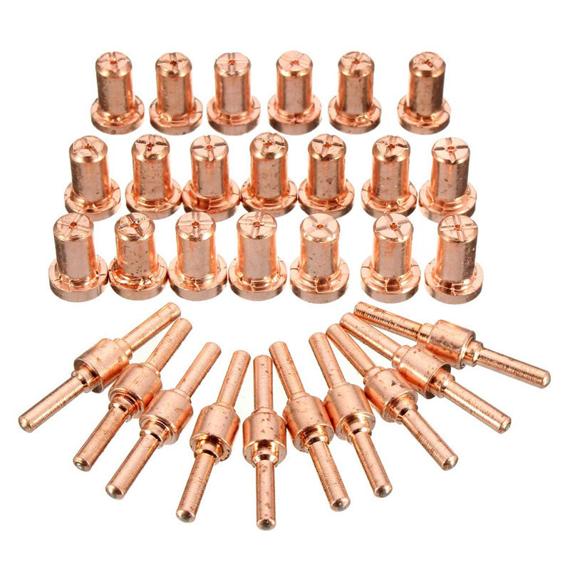 60Pcs/Set Ceramic + Metal Air Plasma Cutting Cutter Consumables Extended TIP Nozzles Electrode For PT31 LG40 Torch CUT-50D