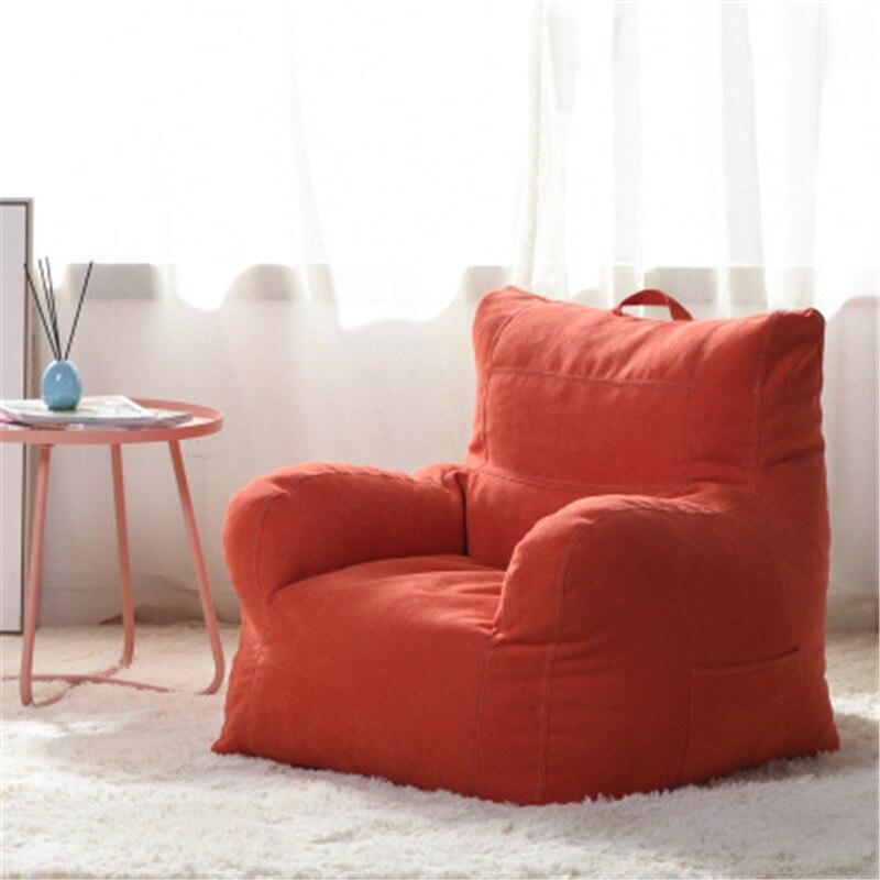 Paresseux canapé pouf chaise tissu canapé salon chambre Tatami paresseux chaise loisirs moelleux pouf canapé étudiants/enfants Tatami