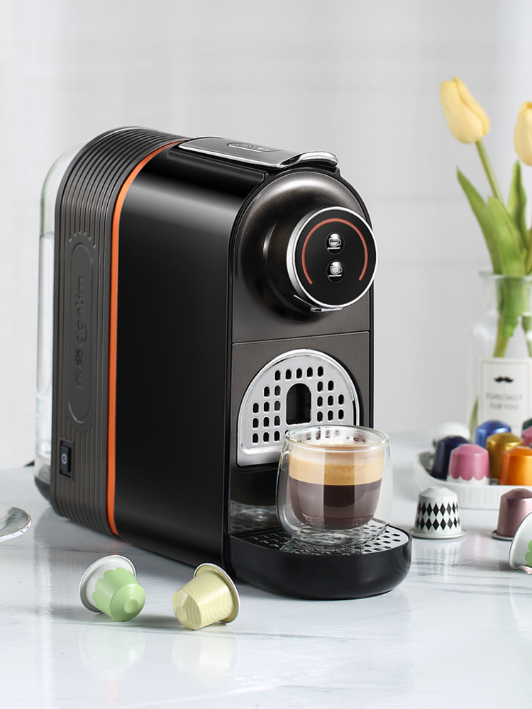 Donlim máquina de café en cápsula de DL-KF7020, Mini máquina automática de té de la leche de soja, cafetera espresso Manguera de 4 vías de 1