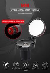 Мини-зеркало заднего вида с вращением на 360 градусов для велосипеда с сигнасветильник
