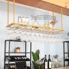 Wine-Bottle-Rack Upside-Down Household Hanging Bar Light Creative Luxury