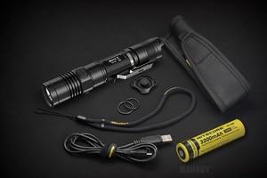 Image 5 - Vente NITECORE 1000Lumen MH12 MH12W XM L2 U2 LED Rechargeable lampe de poche recherche sauvetage Portable torche 18650 batterie livraison gratuite