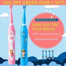 Детская электрическая зубная щетка аккумуляторная От 3 до 12