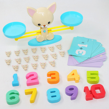 цена на Digital Scale Addition And Subtraction Balance Game Scientific Early Education Calculation Table Scale Teach Tools