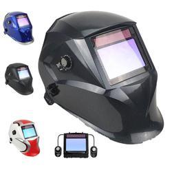 Masque de soudage classe supérieure 1/1/1/1 vue 100*65mm (3.94*2.56 ) ombre 3 (4) /4-8/9-13 solaire 4 capteurs casque de soudage en Fiber de carbone EN379