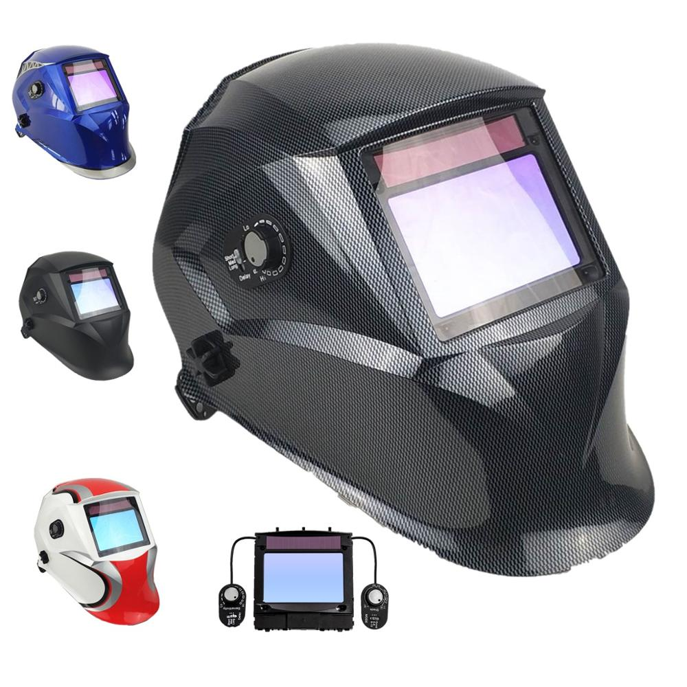 Welding Mask External Control Top Class 1/1/1/1 View 100*65mm Shade 3(4)/4-8/9-13 Solar 4 Sensors EN379 Welding Helmet