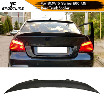Carbon Fiber Rear Trunk Spoiler for BMW 5 Series E60 M5 2004 - 2009 Rear Trunk Wing Spoiler Boot Lip image